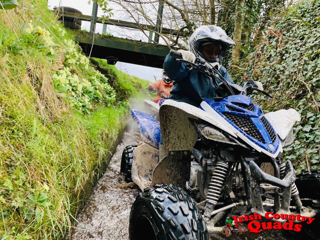 Irish Country Quads Adventure Activities Course water feature