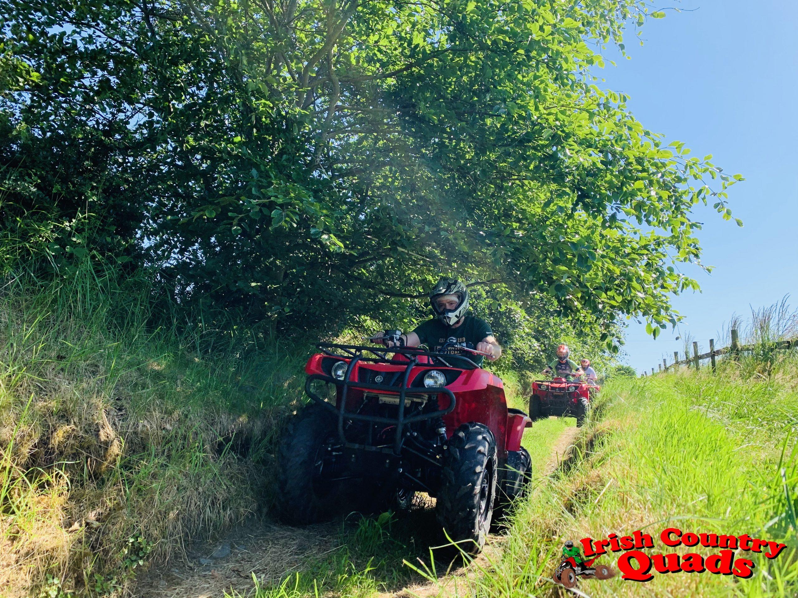 Irish Country Quads Adventure Activities quad bike track trail course underground road